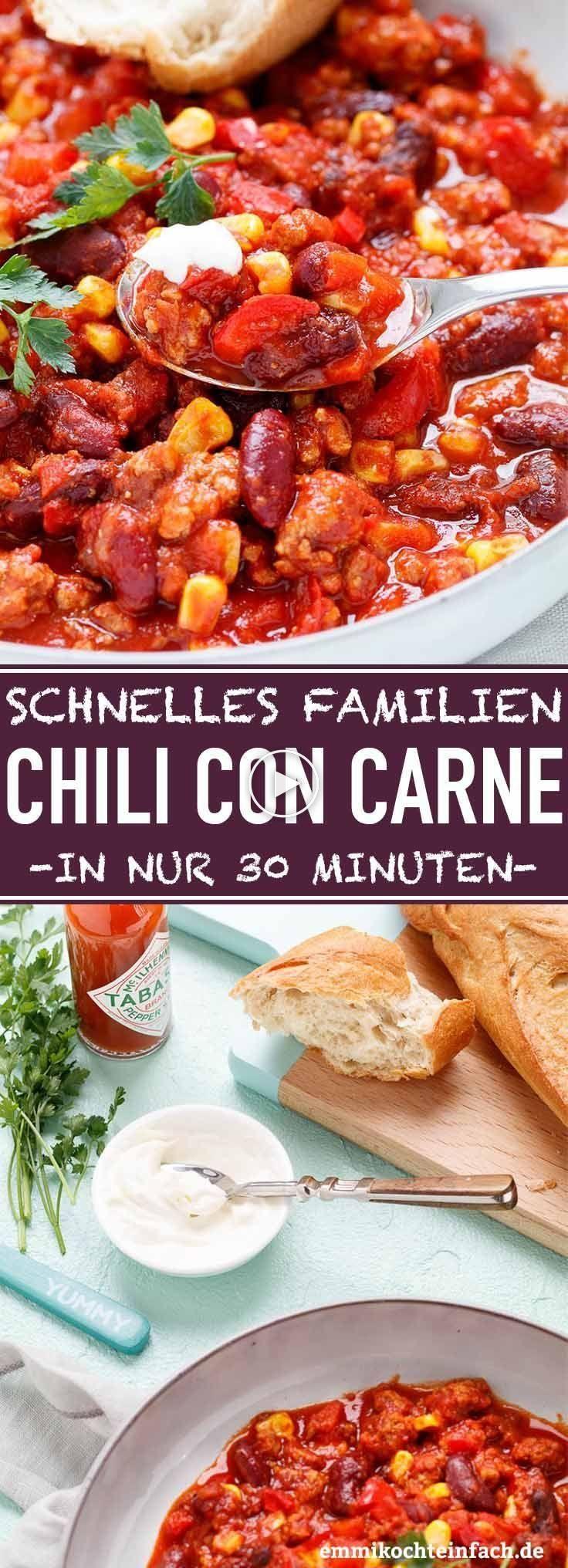 Quick chili con carne   idéal pour les familles   facile à ...