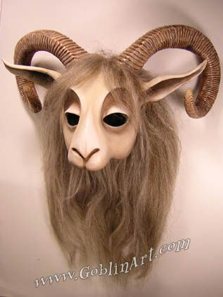 Goat mask, light finish by goblinart, via Flickr