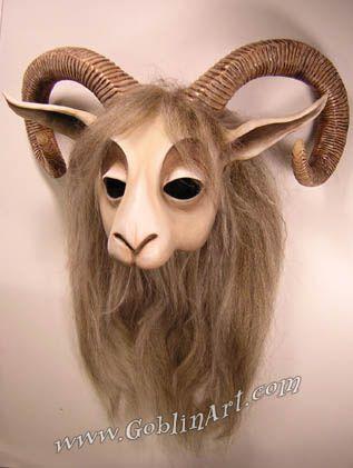 Goat mask, light finish | Flickr - Photo Sharing!
