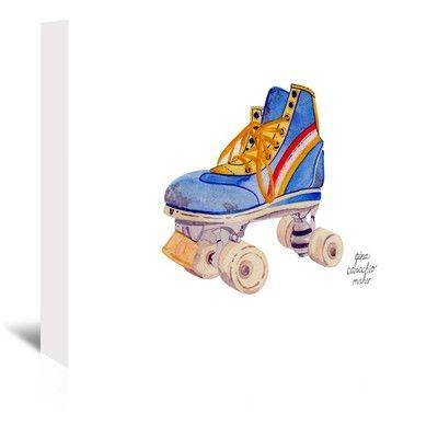 """East Urban Home Roller Skate Original Painting on Wrapped Canvas Size: 32"""" H x 48"""" W x 1.5"""" D"""