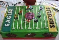 Eagles vs Steelers cake