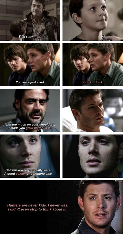 [gifset] 1x18 Something Wicked This Way Comes, 2x01 In My Time Of Dying, 3x10 Dream A Little Dream Of Me, 7x04 Defending Your Life