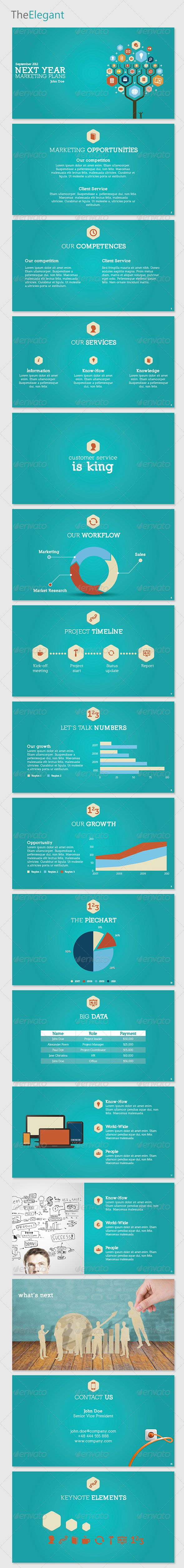 TheElegant Keynote Template - GraphicRiver Item for Sale