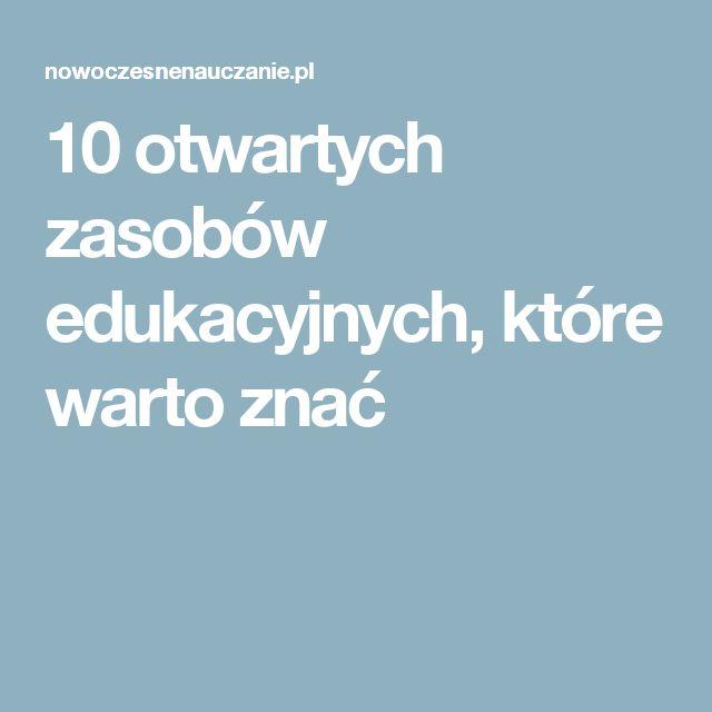 10 otwartych zasobów edukacyjnych, które warto znać