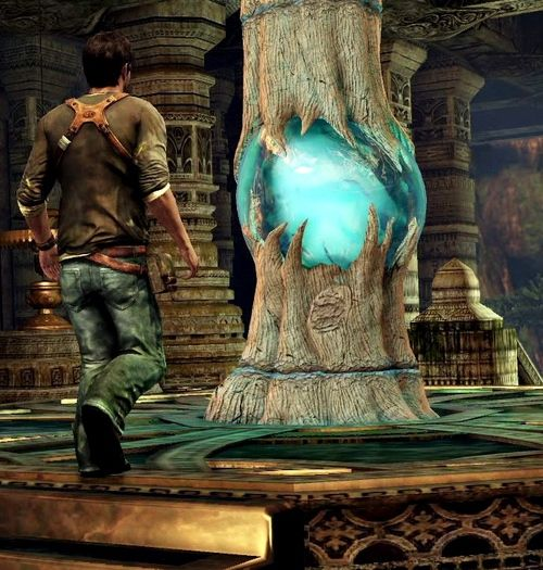 Uncharted 2 - This is towards the end of the game. Drake has found the Chintimani Stone!