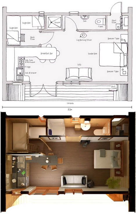 181 Best Tiny House Blueprints Studio Loft Images On