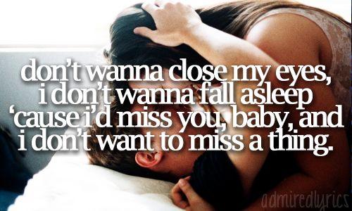 Twitter / PictureLyrics: Aerosmith - I Don't Want To ...