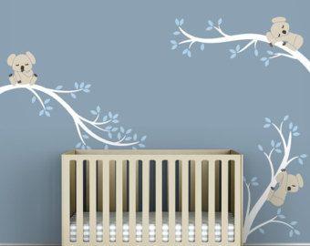 Etiqueta de Koala bebé gris blanco y caliente por por LeoLittleLion