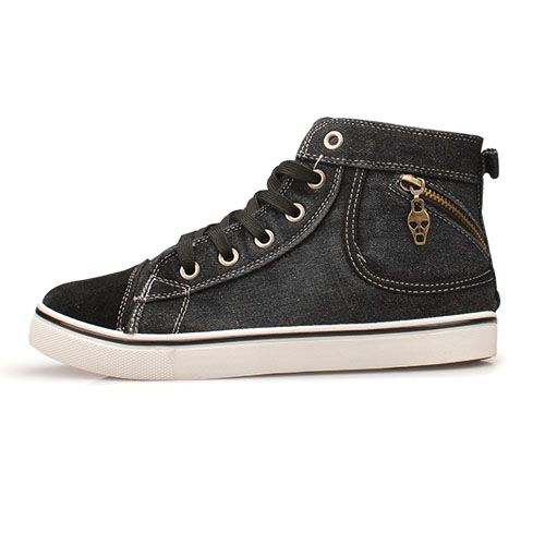 baskets sneakers homme denim style converse skull men fashion shoes chaussure pinterest. Black Bedroom Furniture Sets. Home Design Ideas
