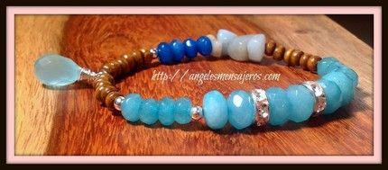 Jade bracelet, Amazing bracelet, i love it!!   Pulsera en jade, pulsera aguamarina,pulsera calcedonia,pulsera amazonita,joyeria cristales de cuarzo,joyas en cuarzos