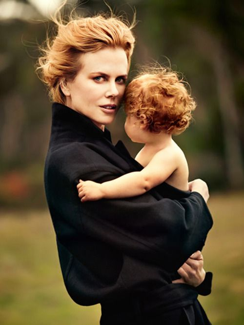 Nicole Kidman and daughter Faith Margaret photographed by Will Davidson for Harper's Bazaar Australia June/July 2012. Image via: for-redheads.tumblr.com
