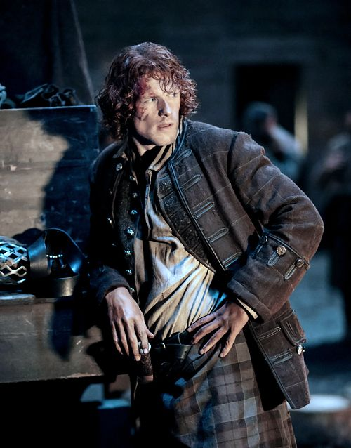 "outlander-news: "" Sam Heughan as Jamie Fraser in 'Prestonpans' 