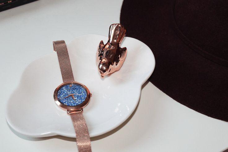 L'heure du rose gold avec la montre Cristal de Pierre Lannier