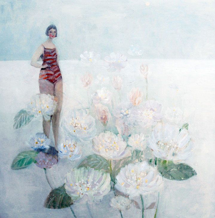 Kristin  Vestgard: Waking up Campden Gallery, fine art, Chipping Campden