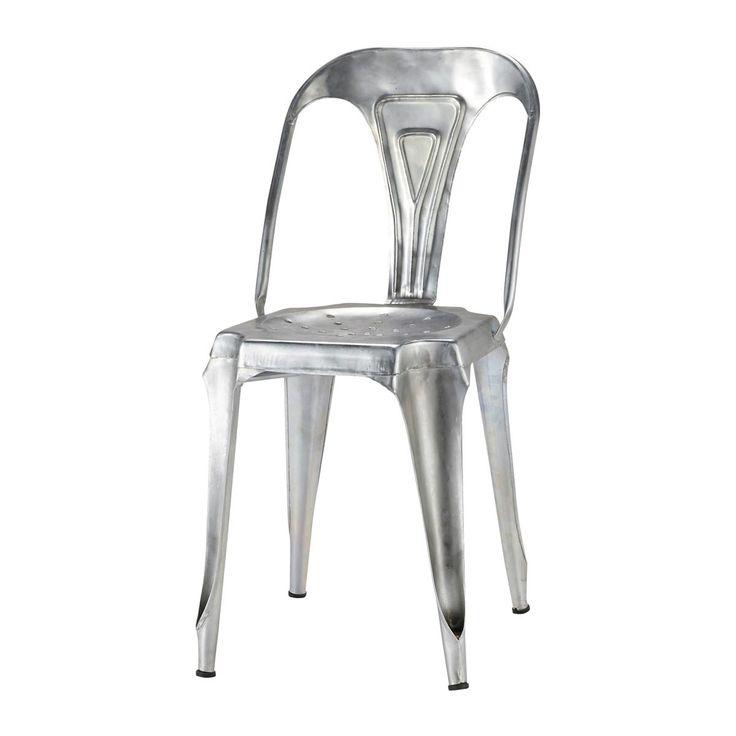 Chaise indus en acier galvanisé Multipl's