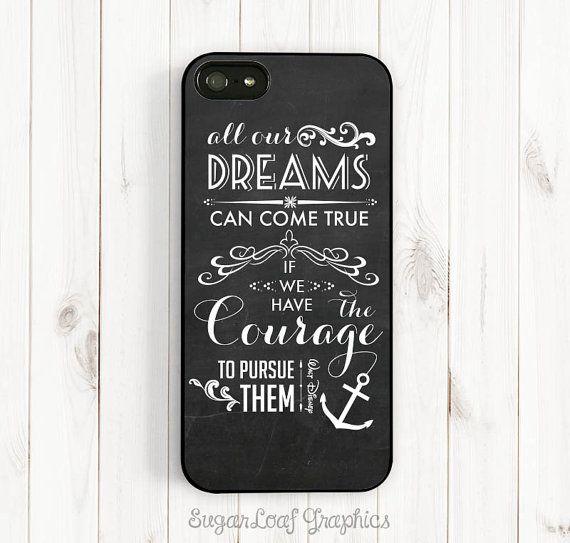 Dream Quote iPhone Case Walt Disney Quote door theSugarloafBoutique, $15.95