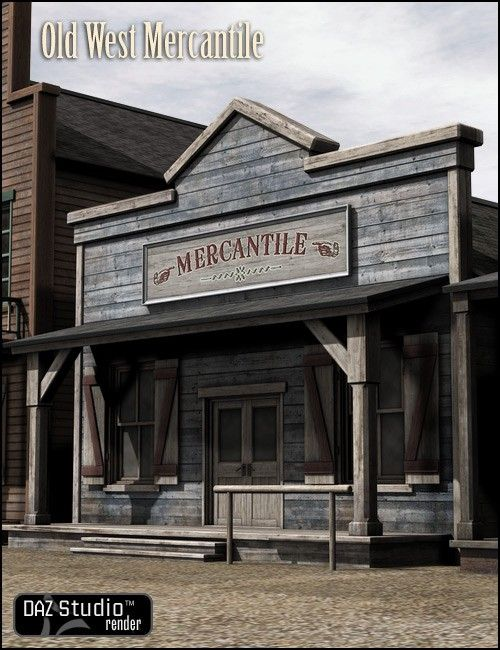 "Old West Mercantile 3D Building Model...this is the style I want for my gym and craft ""sheds"""