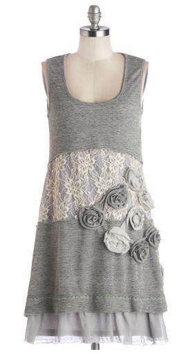 Платье с кружевом из маек / Декор / Своими руками - выкройки, переделка одежды, декор интерьера своими руками - от ВТОРАЯ УЛИЦА