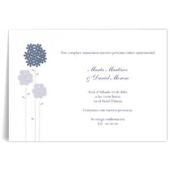 Invitaciones de boda Flores Altas