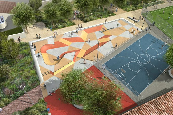 Skatepark Saint Denis by Constructo