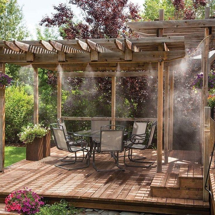 Outdoor Misting System Patio Mist Cooling Mister Kit Air Cooler Pool Deck  Garden