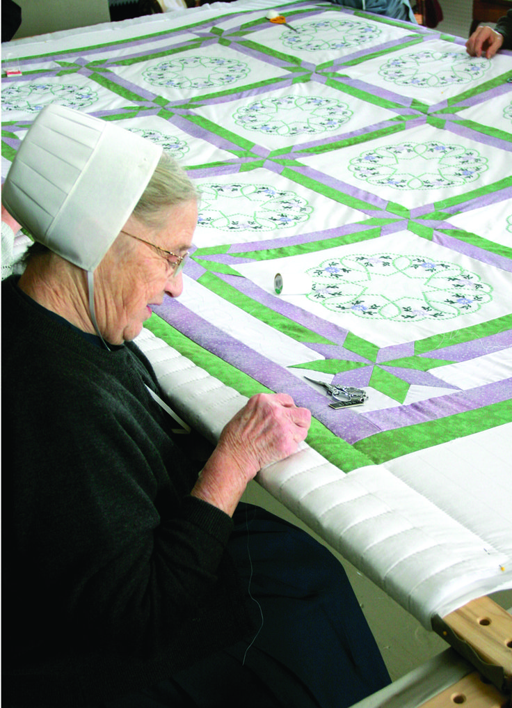 Quilting is one thing that's plentiful in Ohio's Amish Country!