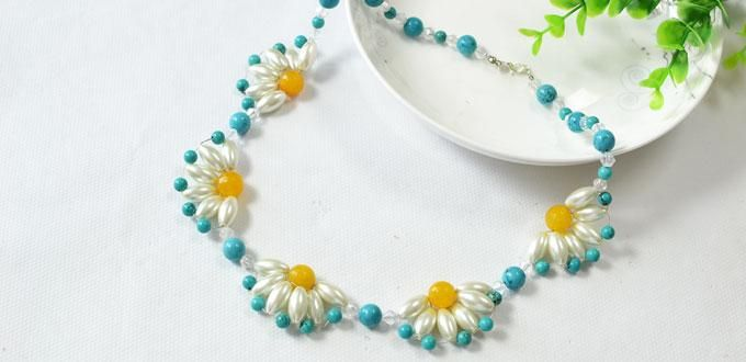 Pandahall Tutorial - How to DIY a Flower Choker Necklace Step by Step
