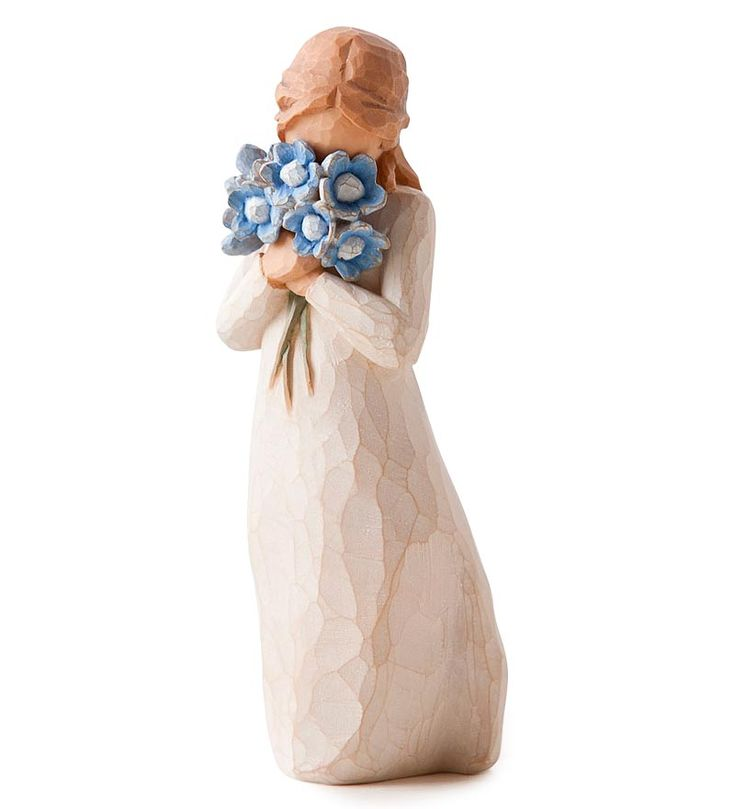 """Holding thoughts of you closely"" #Forget-Me-Not #Willow #Tree® Figurine. I LOVE Willow Tree Figurines, they are my absolute favorite."