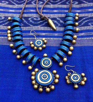 Terracotta Necklace Set #craftshopsindia #indianhandicrafts