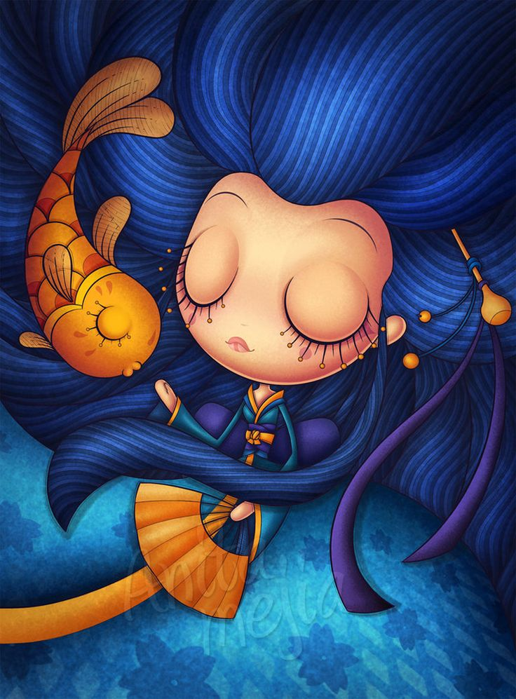 """Piscis Horoscopo"" by Anita Mejia (her work is adorable!)"