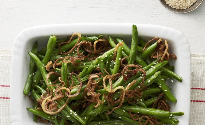 Green Beans: Fried shallots, sesame seeds, and ginger give green beans ...