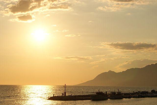 Sunset in Baska Voda, Croatia