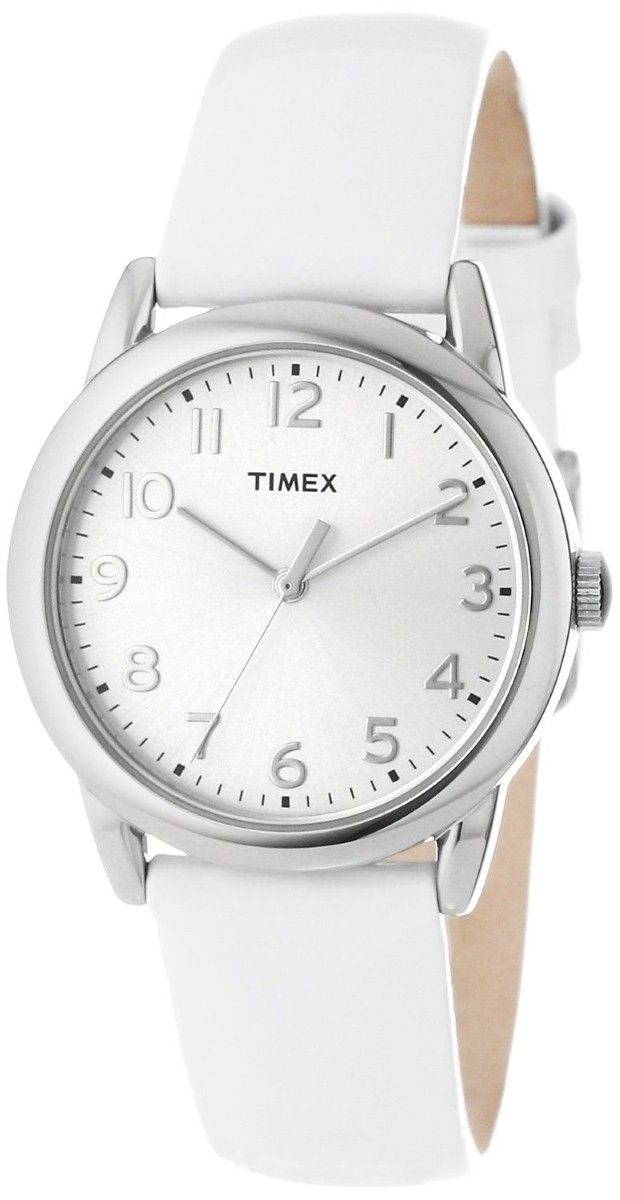 Watches women:  Timex Women's T2P0822M White Patent Leather Strap Watch White Watches for women.
