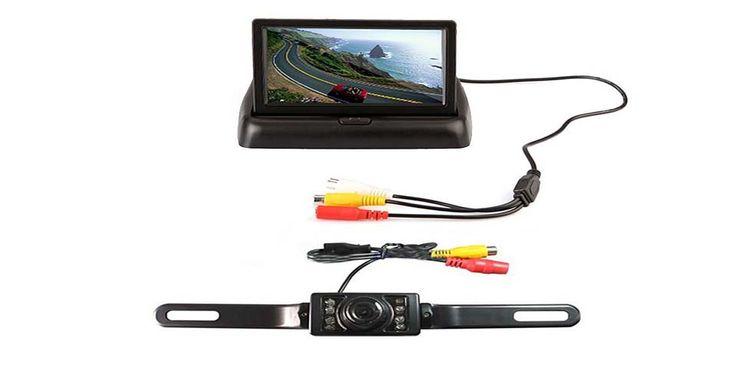 E-best Foldable TFT LCD Monitor Backup Reverse Monitor Night-Vision   Universal 7 pcs LED Night-Vision Car Backside View Camera System Review