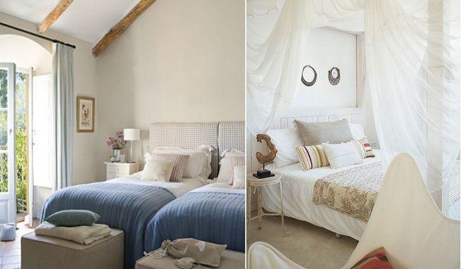 Habitaciones de las casas azul y blanco de estilo for Habitaciones con estilo