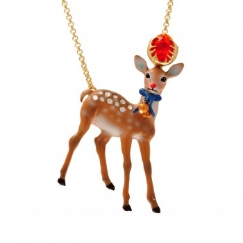 COLLIER JEAN-PIERRE. Welcome to Jean-Pierre! The soft doe joins the 'Méchamment Joyeux' collection. His gaze will make even the toughest melt down.