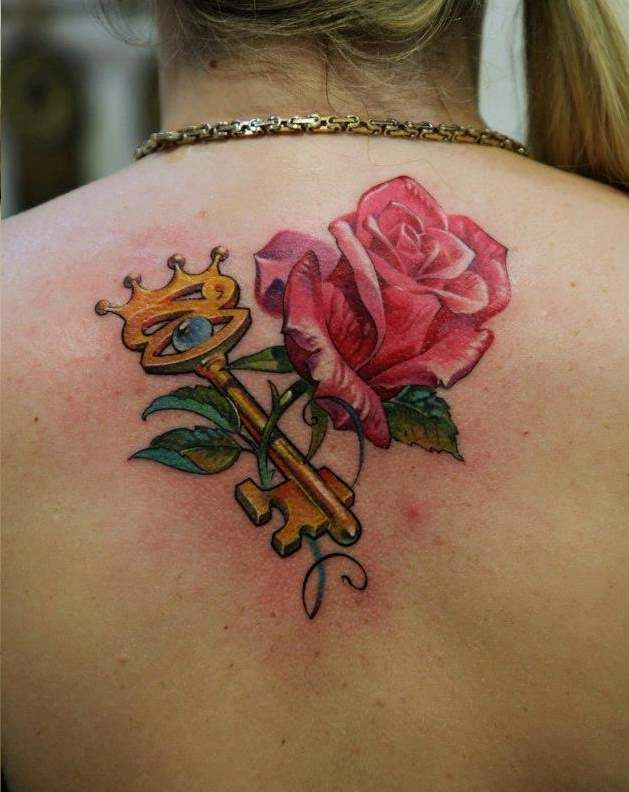 Best 13 keys roses tattoos ideas on pinterest tattoo for Tattoo shops junction city ks