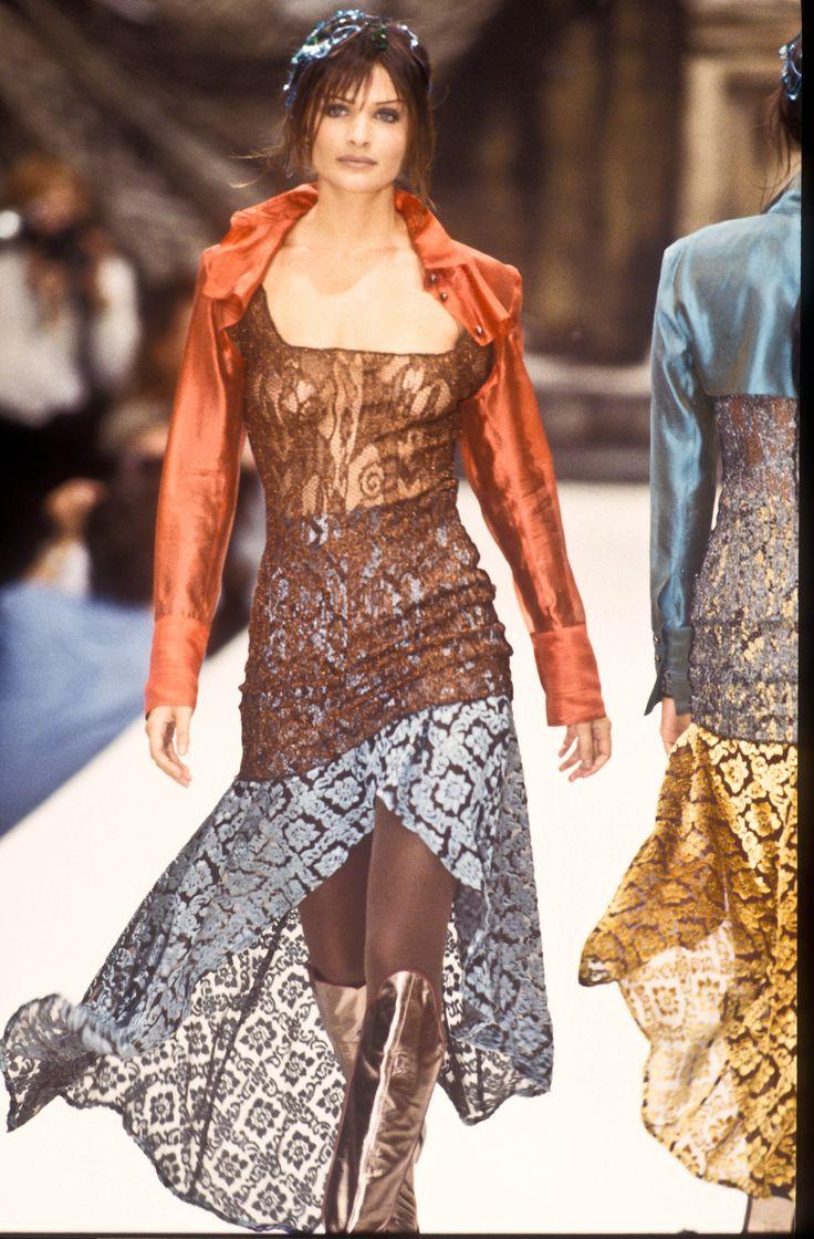 Helena Christensen Rifat Ozbek RTW F/W 1993