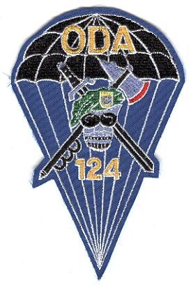1st Special Forces Group Pocket Patches Operational Detachment A-124 B Company, 1st Battalion