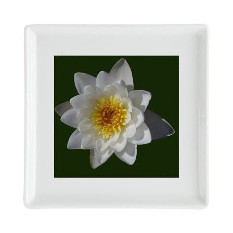 Flower Square Cocktail Plate on CafePress.com