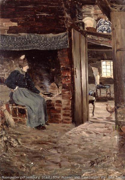 die alte s sk am herd klockries 1875 beschreibung sitzende alte am offenen herd rechts. Black Bedroom Furniture Sets. Home Design Ideas
