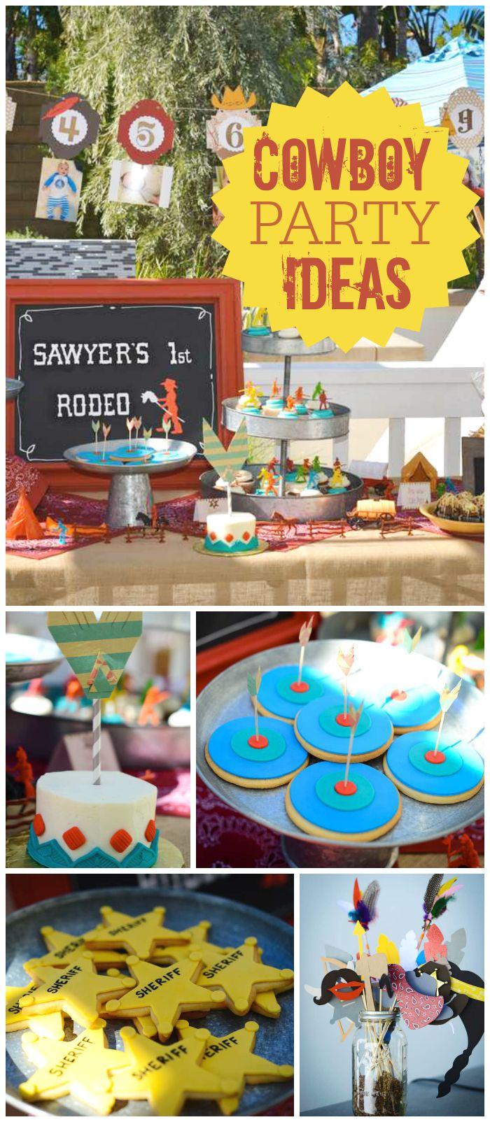 Cowboy party food ideas - Cowboys Indians Birthday Sawyer S 1st Birthday