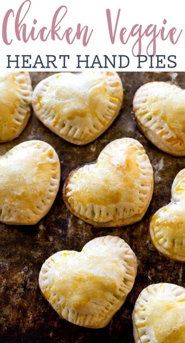 sweetheart #chicken hand pies / savory hand #pies recipe / valentines day / hear…