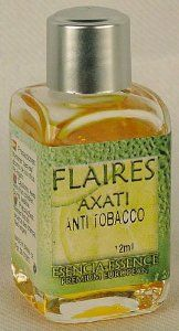 Anti Tobacco (Anti Tabacco) Essential Oils, 12ml by Flaires of Spain. $6.25. imported from Spain. Glass bottle. Essential Oil. Anti Tobacco Scent. Anti tobacco essential oil (Anti tabaco in Spanish). Top quality 100% concentration essential oils made from the finest ingredients available. Completely natural. No artificial ingredients used. Our essential oils are never diluted with carrier or base oils. Our essential oils deliver positive benefits to the body through smell...