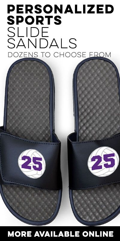 240 best volleyball gifts images on pinterest volleyball gifts volleyball slide sandals come in different colors navy or white see the whole collection negle Images