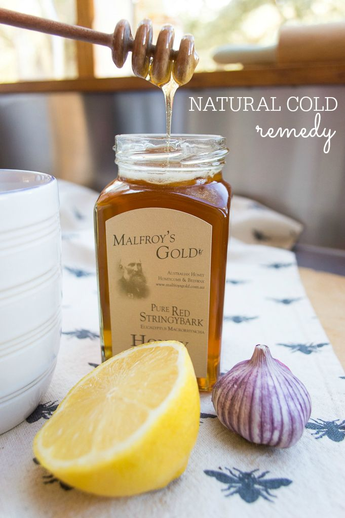 Garlic, Honey and Lemon Cold Remedy- just add to a cup of tea and relax as your cold melts away.