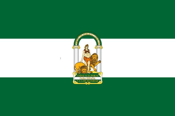 Bandera de la Comunidad Autónoma de Andalucía.
