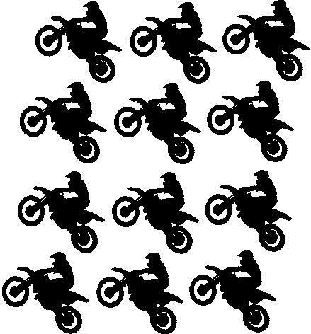 Twelve Motorcycle vinyl decals, Dirt bike, Motocross decor, Small stickers, Boys on Etsy, $10.00