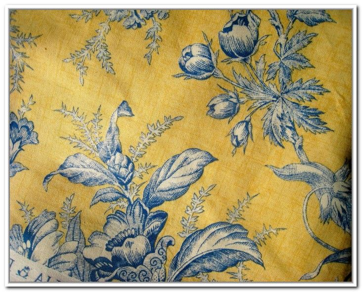 Blue And Yellow Toile Curtains Blue Pinterest Blue