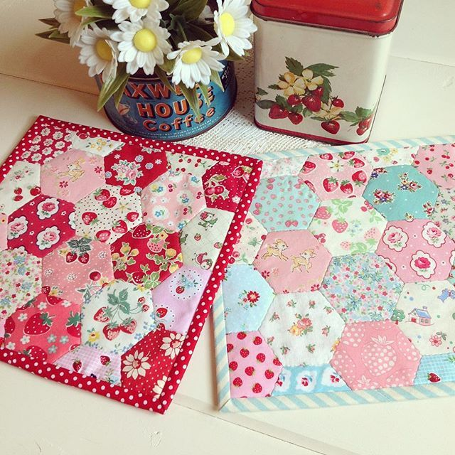 A couple sweet hexie trivets will also be in the shoppe tomorrow!